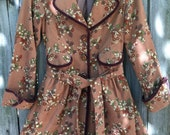 SALE Groovy Floral Corduroy Trench Coat Light Jacket