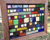 Contemporary Stained Glass Mosaic Panel - Abstract (PLG070)