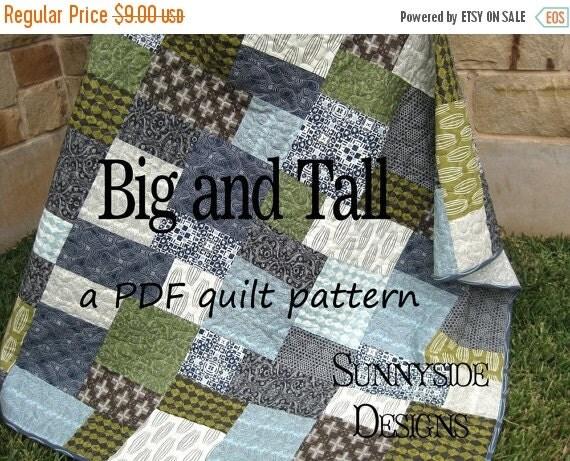 Big Block Quilt Pattern Big And Tall Fat By Sunnysidefabrics