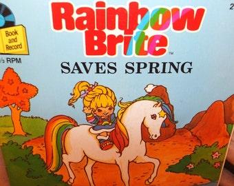 Rainbow Brite Saves Spring Read Along Book & Record Set 1984