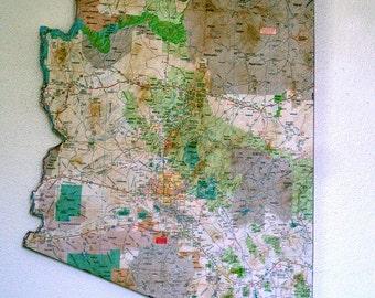 ARIZONA State Map Wall Art (Medium size)