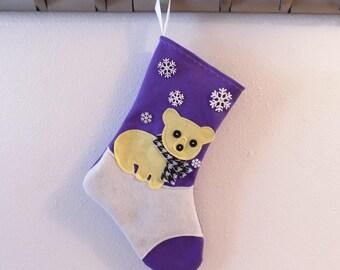Polar Bear Personalized Christmas Stocking by Allenbrite Studio