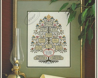 80s Cross Stitch & Country Crafts Magazine May June 1988 OOP Vintage Counted Cross Stitch Family Sampler