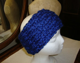 Hand Knitted Headband in Royal Blue