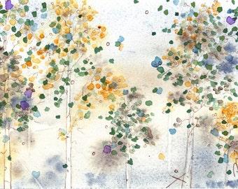 Aspen Grove Art, Fine Art Print, 16 x 12 inch Print