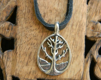 Mens choker tree of life necklace mens leather cord necklace mens jewelry gift for him necklace for man