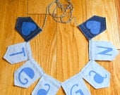 """Small Personalized Name Banner, Custom Pennant, Room Decoration, Locker Fabric Pennant Banner 3"""" tall"""
