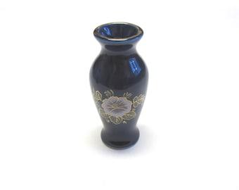 Miniature Vase Blue Oriental