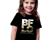 Toddler T-shirt BFLO Buffalo New York City Love Cool Buffalo Toddler Gift Unisex Design
