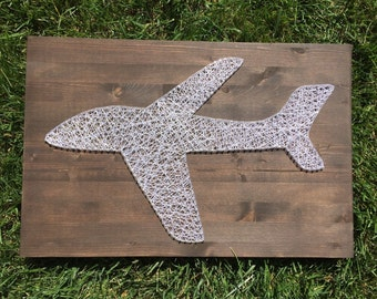 Made to order 16x24 Airplane string art
