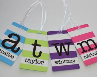 Personalized Bag Tag - Monogrammed Luggage Tag - Backpack Tag - Monogram Bag Tag