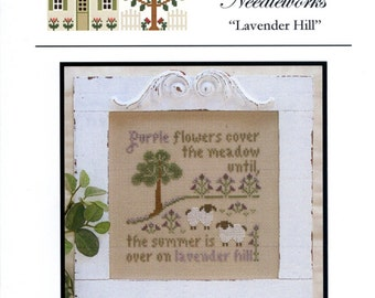 Little House Needleworks: Lavender Hill - Cross Stitch Pattern