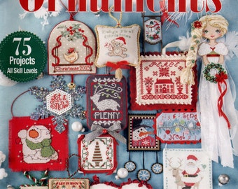 Just Cross Stitch Magazine: Christmas Ornaments 2015 - Annual Holiday Issue