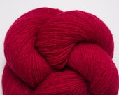 Lace Weight Recycled Cashmere Yarn, Red Licorice Cashmere Lace Weight Recycled Yarn, 2380 Yards Available