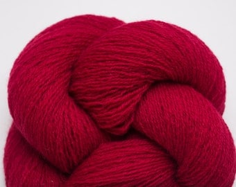 Red Licorice Cashmere Lace Weight Recycled Yarn, CSH00170