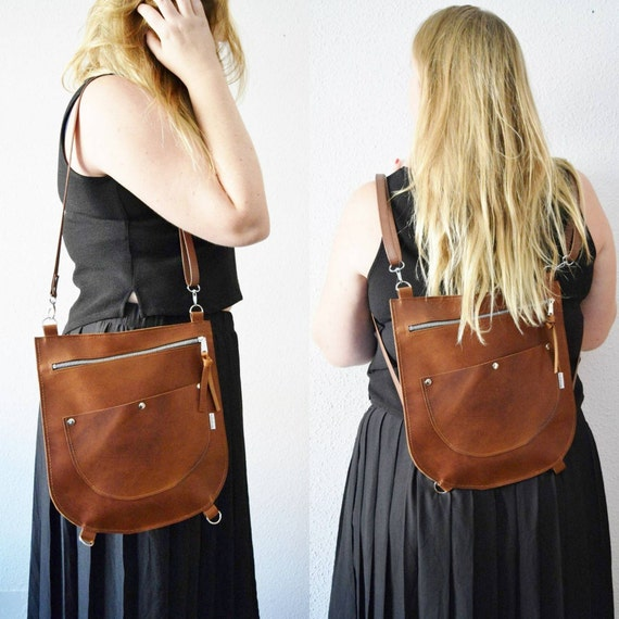 Leather backpack,leather bag,convertible purse,brown leather purse,brown backpack,tanned leather,leather purse,brown bag,backpack leather