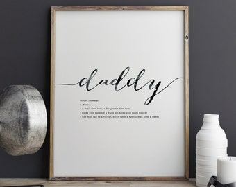 PRINTABLE Father's Day Gift - Daddy Print