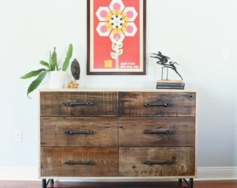 The Franklin-Rustic Modern Dresser Made From Reclaimed Louisiana Cypress