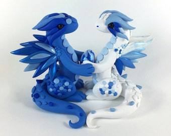 Custom Dragon Wedding Cake Topper with egg