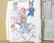 1957 Wardrobe Pattern Baby Doll 19 to 21 Inch 2183 McCall's 825