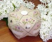 Dans mon Jardin In My Garden : Jardin Privé Biscornu pin cushion counted cross stitch patterns sheep geometric hand embroidery