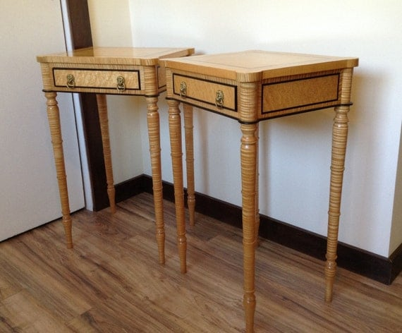 Federal End Tables night stands, heirloom quality wood furniture