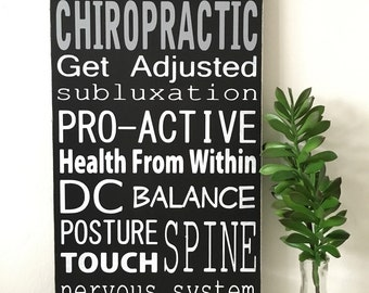 Chiropractic sign. Occupation/career sign