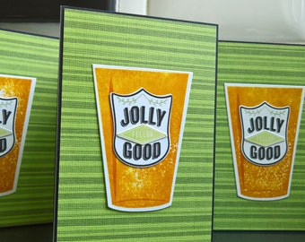 Beer Birthday Card, Retirement Card, Jolly Good Fellow, Microbrew Greeting Card, Congratulations Card for Beer Lover