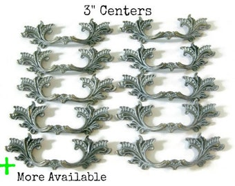 "French Provincial Drawer Pulls - 3"" centers Lot of 10"