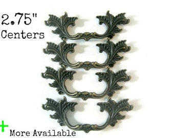 "4 French Provincial Dresser Handles with 2.75"" centers"