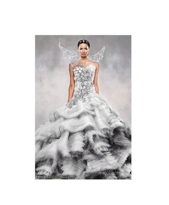 Hunger Games Catching Fire Katniss Costume Wedding Dress White
