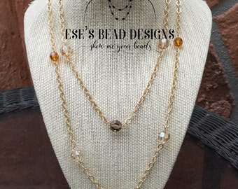Gold Chain Swarovski Necklace