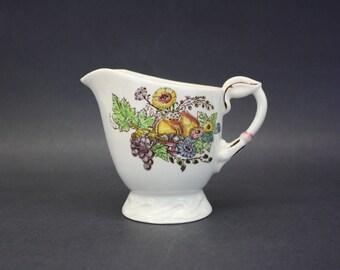 Vintage Vernon Kilns 'Fruitdale' Creamer with Fruit & Flowers (E2145)