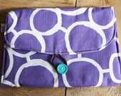 Diaper Changing Pad - travel clutch - Purple Freehand