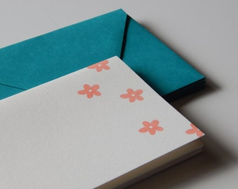 SALE -- Orange Blossoms Note Cards -- Free US Shipping