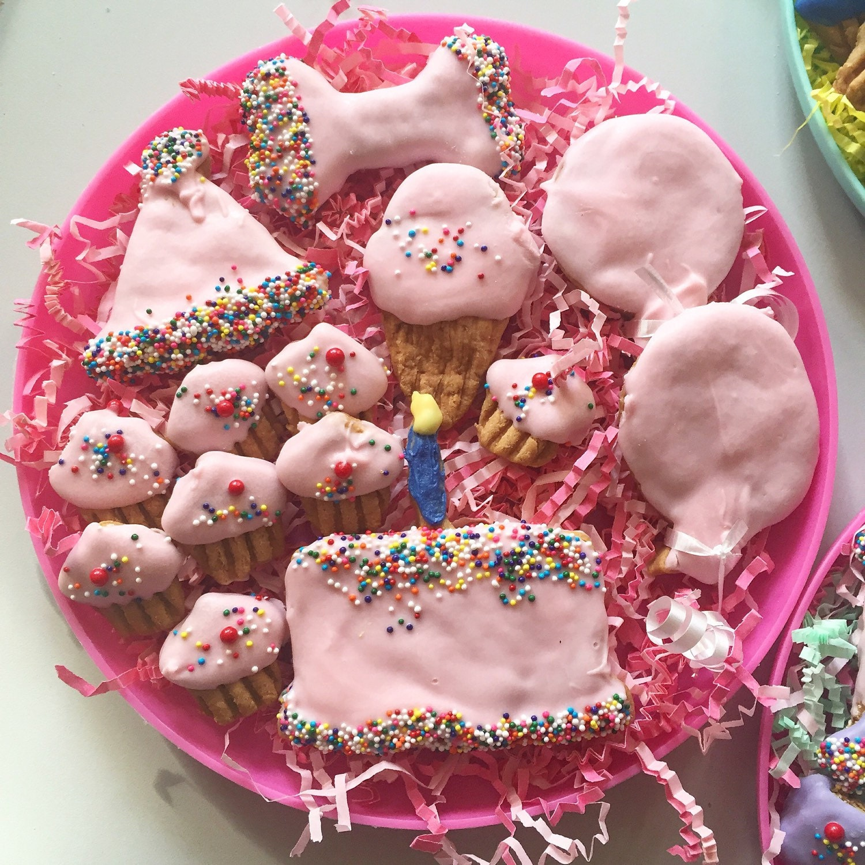 Birthday Dog Treat Platter Puppy Shower Gift Peanut Butter