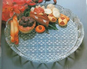 Vintage Mikasa Crystal Serving Plate