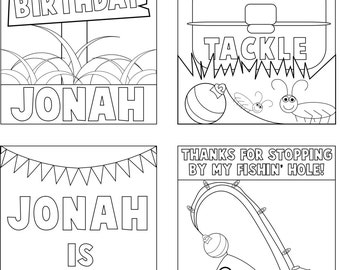 Personalized Fishing Coloring Books