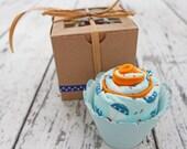 Baby Boy Gift, Baby Boy Shower Gift, Burp Cloth Cupcake, New Baby, Burp Cloth Set, Boy Gift Set