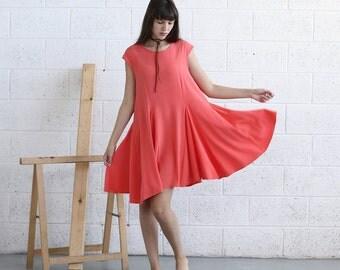 Halloween Sale Full Skater Dress-Midi Dress-Coral.