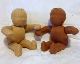 12 inch Waldorf chubby baby doll body blank all natural