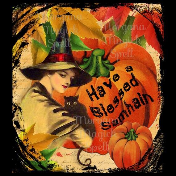 Blessed Samhain Postcard