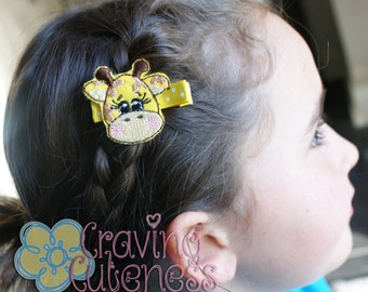 Giraffe Hair Clip - Meet Miss GaCindi - Boutique Quality
