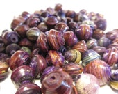 250 Purple Hand Rolled Paper Beads, Purple Paper Beads, Fair Trade Beads, Hand Rolled Paper Beads, African Beads, Upcycled Beads, Recycled