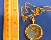 SALE - Large Antique Victorian Rolled Gold Double-sided Photo Locket Pendant with natural Sapphires
