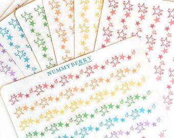 Decorative Border Star Burst Sticker Art Sheet
