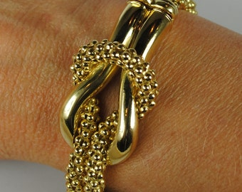 18kt Gold Popcorn Bracelet, Masella, Italy