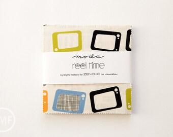 Reel Time Charm Pack, Brigitte Heitland, Zen Chic, Moda Fabrics, Pre-Cut Five Inch Fabric Squares, 1560PP