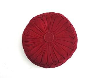 Vintage Smocked Corduroy Pillow