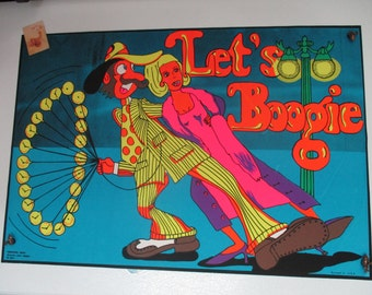 "Blacklight ""Let's Boogie"" Original Vintage Posters"